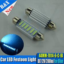 1X ICE BLUE 44mm LED SMD FESTOON C5W INTERIOR COURTESY BULB FORD FIESTA MK4 MK5