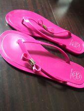 65e5f05babc7 Tory Burch Michaela Bow Jelly Flip Flops Fuchsia Sandals Size 10