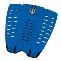 Far King Panther 3 Piece Dynamic Diamond Traction Surfboard Tail Pad Blue/Black