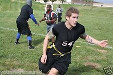 Upper Body Protective SHIRT Flag Tackle FOOTBALL Athletics Junior Youth Black