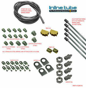 Stainless Steel STREETROD RATROD HOTROD Brake Line Kit Set Steel Oldsmobile 3/16