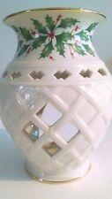 "Lenox Christmas Fragrance Warmer Gold Rim Porcelain Dimension Collection 6"""