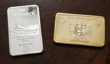 Silver Gold WWII WW2 German Navy Kriegsmarine Die Bismarck Marine medal bar