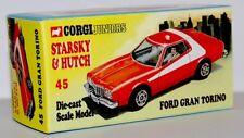 CUSTOM DISPLAY BOX FOR CORGI JUNIORS 45 S&H FORD GRAN TORINO- FREE UK POST
