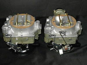 1957-1961 Dual Quad Carter WCFB Carburetors Corvette Chevy 283 270HP 2613s 2614s