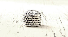 Antique Silver Plated 10x9mm Dotted Apetalous Bullet Bead Cap Q30 66458