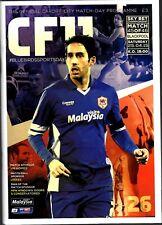 cardiff city fc match programme CF11 april 25th 2015 vs eblackpool