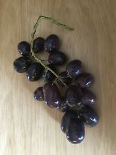 Vintage 7 Inch Cluster of Purple Grapes Beautiful!
