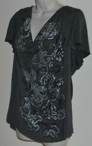City Chic plus size beaded top Size M