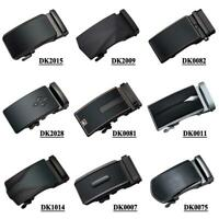 Black Mens Belts Buckles Without Belts Slide Ratchet Buckle Fit 3.3cm to 3.6cm