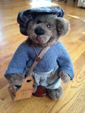 "Sammy Shoe Shine Boy Plush 13"" Handmade Fully Jointed Bear by Penny French"