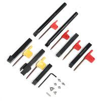 7PCS Set 12mm Lathe Turning Tool Holder Boring Bar + DCMT/CCMT Carbide