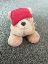 More details for rare forever friends bear andrew brownsword soft toy plush no 186 red cap hat