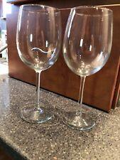 Set Of 2 Clear Wine Glasses