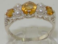 Citrine Pearl Sterling Silver Fine Jewellery