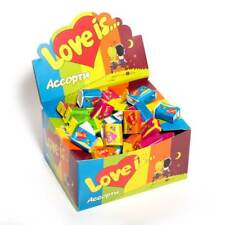 LOVE IS... MIXED FLAVORS SEALED BOX - 100 PCS Assorted Bubble Gums 5 Flavors
