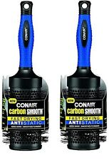 2 PACK Conair Carbon Smooth Fast Drying Anti Static Hair Brush