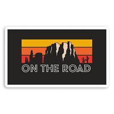 2 x 10cm Cool Road Trip Vinyl Stickers - Sunset Travel Luggage Sticker #34692