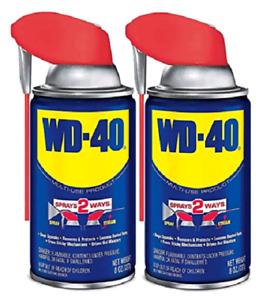 WD-40 Multi-Use Product with SMART STRAW SPRAYS 2 WAYS, 8 OZ (490142), Blue 2 PK
