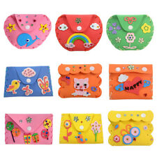 UN3F DIY 3D EVA Foam Sticker Cartoon Wallet Purse Kids Child Craft Toy Kits