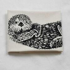 Otter Organic Cotton Kitchen Tea Towel Gift Screen Printed Nwt