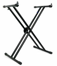 Rockville Double X Braced Keyboard Stand w Push Button Lock For Yamaha PSR-E263