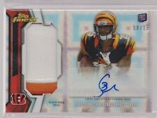 2013 Topps Finest Giovani Bernard X-fractor Auto 2 Color Patch Rc Serial # to 15