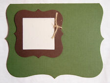 A2 Ivy Green Bracket Card Die Cuts with Bracket Frame 8 cards AccuCut