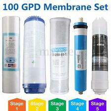 5 Stage Reverse Osmosis RO Replacement Water Filter Set with 100 GPD Membrane