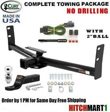 """FITS 2007-2009 CHEVY EQUINOX, CLASS 3 CURT TRAILER HITCH PACKAGE w/ 2"""" BALL"""
