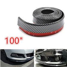 "100"" Carbon Fiber Bumper Lip Body Spoiler Skirt Protector Fit For Mazda 3 4 5 6"