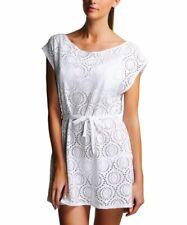 Freya Cha Cha Tunic Kaftan Beach Cover Up Dress UK Size Small (10-12) White (s3)