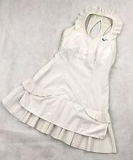 Nike Maria Sharapova Tennis Dress White Pleated Ruffles Swan Lake X Small