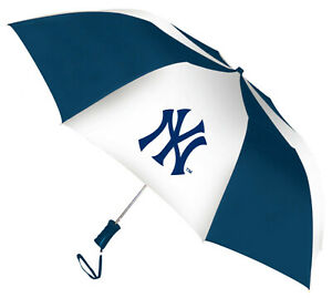 Storm Duds New York Yankees 48 inch Automatic Folding Umbrella – Navy/White