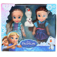 Disney Frozen Princess Elsa Anna Doll Ice and Snow Dolls Model Toys for Girls.