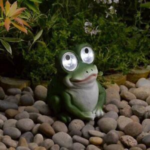 Solar Bright Eyed Frog Light Garden Decoration Gift