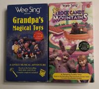 WEE SING GRANDPA'S MAGICAL TOYS BIG ROCK CANDY MOUNTAINS Lot 2 (VHS) Rare! OOP