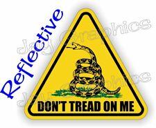 REFLECTIVE Hard Hat Sticker  Gadsden Flag Dont Tread  USMC Helmet Tactical USA