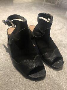 Topshop Black Block Heels 6