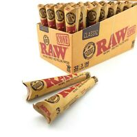 "RAW Pre Rolled Cones Various Sizes King Size, 1 1/4, Supernatural 12"" Etc"