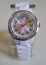 Women's Breast Cancer Awareness Pink Ribbon Rhinestone Fashion Watch