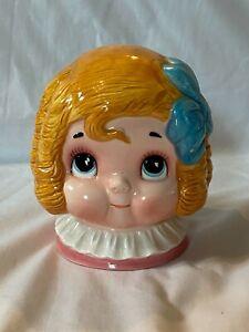 RARE Vintage 1982 Dolly Dingle Ceramic Coin Bank House of Global Art Japan