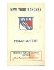1968-69 New York Rangers folding schedule