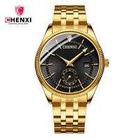 CHENXI Watch Men Steel Quartz Wristwatch Luxury Top Brand Business Gold Watches