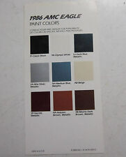 1986 AMC Eagle NOS color chip paint chart brochure