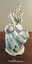 Vintage Lefton Victorian Dancing Girl with Hat and Bell Dress Figurine