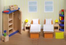 Puppenhausmöbel SCHLAFZIMMER modern Puppenmöbel Puppenhaus Puppenschlafzimmer