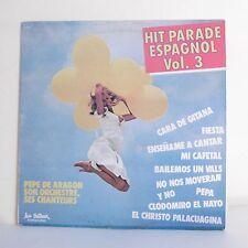 """33T Pepe DE ARAGON Vinyle LP 12"""" HIT PARADE ESPAGNOL Vol.3 - TRETEAUX 6424 Rare"""