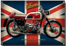VELOCETTE VALIANT 200CC MOTORCYCLE ENAMELLED METAL SIGN,CLASSIC,COLLECTABLE.