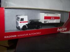 SCANIA 470 Container-Sattelzug mit 40 ft. AGA Tankcontainer in Ovp. Herpa 1:87
